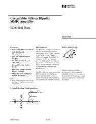 Cascadable Silicon Bipolar MMIC␣ Amplifier Technical Data