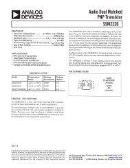 Audio Dual Matched PNP Transistor SSM2220