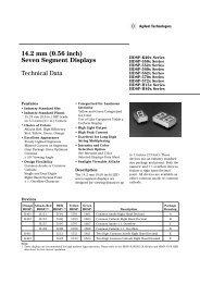 14.2 mm (0.56 inch) Seven Segment Displays Technical Data