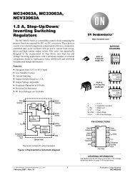 MC34063A MC33063A NCV33063A 1.5 A Step−Up/Down/ Inverting Switching Regulators