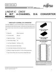 8 BIT 4-CHANNEL D/A CONVERTER MB86022