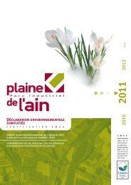 Déclaration Environnementales 2011 - Parc industriel de la Plaine ...