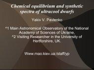 spectra of ultracool dwarfs