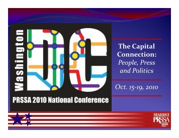 The Capital Connection People Press and Politics Oct 15‐19 2010