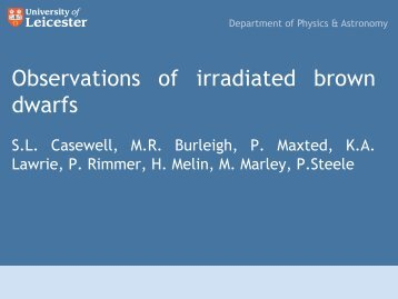 Observations of irradiated brown dwarfs