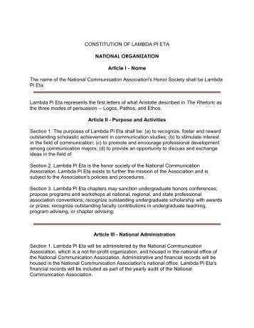 Constitution of Lambda (PDF) - Marist Clubs and Organizations