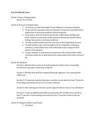 Club ByLaws (PDF) - Marist Clubs and Organizations - Marist College