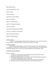 Club Bylaws - Marist Clubs and Organizations - Marist College