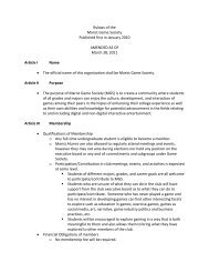 Our Bylaws (PDF) - Marist Clubs and Organizations - Marist College