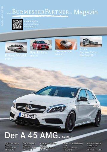 Burmester Kundenmagazin 2013 Ausgabe 1