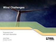 Wind Challenges