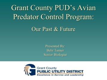 Grant County PUD's Avian Predator Control Program
