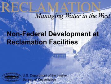 Reclamation Facilities