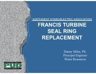 FRANCIS TURBINE SEAL RING REPLACEMENT