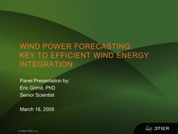 WIND POWER FORECASTING KEY TO EFFICIENT WIND ENERGY INTEGRATION
