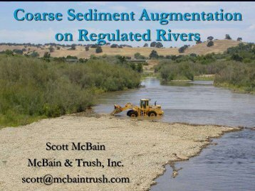 Coarse Sediment Augmentation on Regulated Rivers