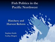 Fish Politics in the Pacific Northwest