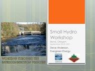 Small Hydro Workshop