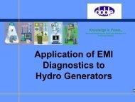 Application of EMI Diagnostics to Hydro Generators