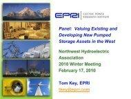 Tom Key - Northwest Hydroelectric Association