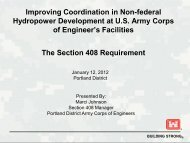 Improving Coordination in Non-federal Hydropower Development at ...