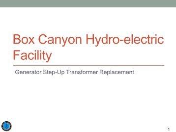Box Canyon Hydro-electric Facility