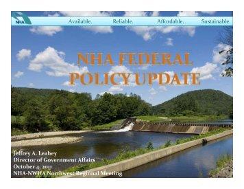NHA Federal Policy Update