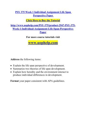 life span perspective of human development essay