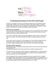Fundraising Ideas - Pink Tulip Project