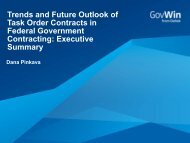 Trends and Future Outlook of Task Order Contracts in ... - GovWin