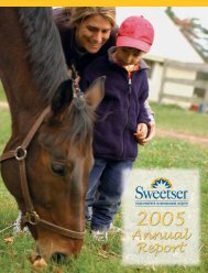 Sweetser Annual Report 2005