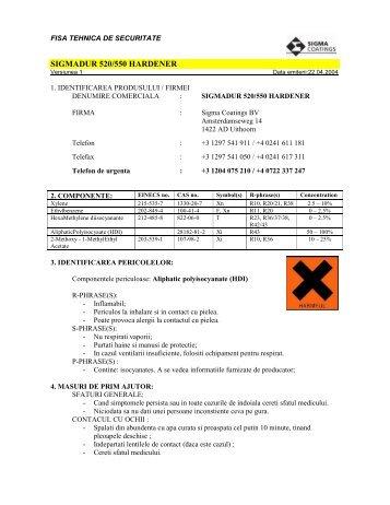 SIGMADUR 520/550 HARDENER