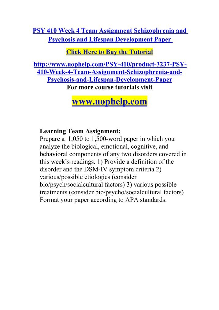 psy 410 week 3 neurocognitive and Psy 410 week 3 treatment of neurodevelopmental and neurocognitive disorders presentation (2 set) for more classes visit wwwpsy410guidescom.