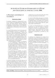 1. politique scientifique et - Musée des Confluences