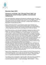 Bavarian Open 2010 - Bayerischer Fechtverband e.V.