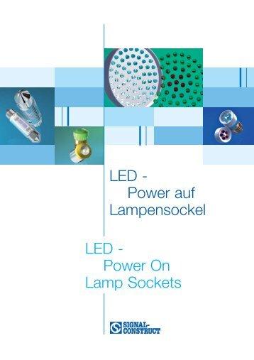 LED - Power auf Lampensockel LED - Power On Lamp Sockets