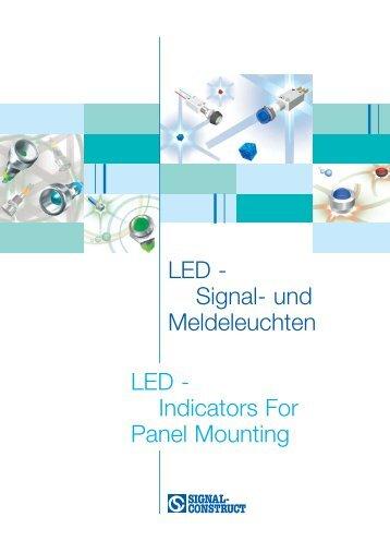 LED - Signal- und Meldeleuchten LED - Indicators For Panel Mounting