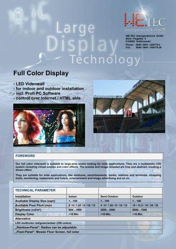 Full Color Display