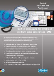 Unified Messaging for small and medium sized enterprises (SME)