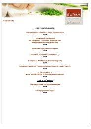 Speisekarte - Bayer Gastronomie GmbH
