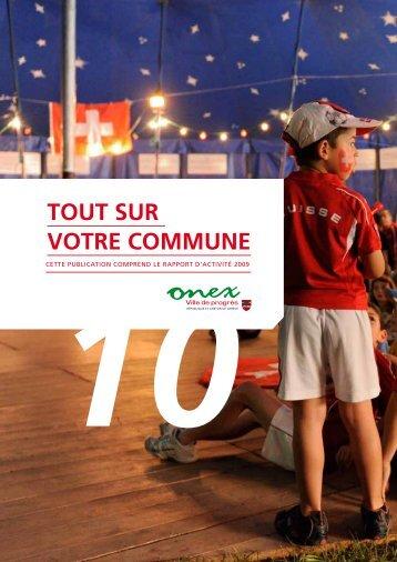 Rapport d'activité 2009 - Tout sur votre commune - Onex