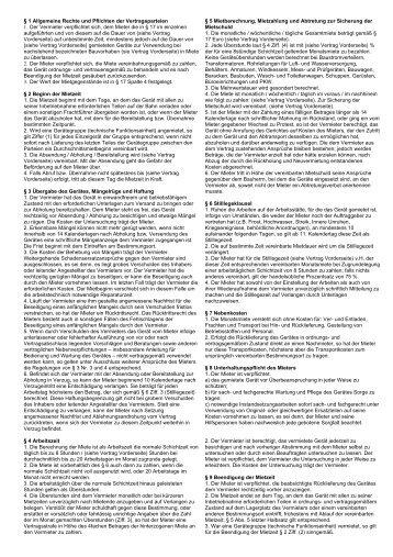Mietbedingungen - Baumaschinen SCHULZ
