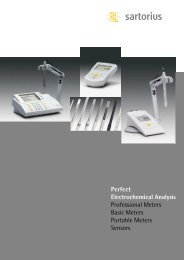 Perfect Electrochemical Analysis - Sartorius AG