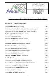Auszug aus unserer Referenzliste für den vorbeugenden ...