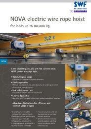 NOVA electric wire rope hoist