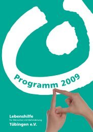 Jahresprogramm 2009 - Lebenshilfe Tübingen e.V.