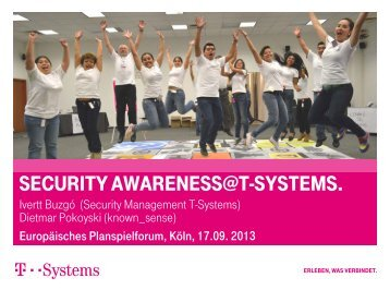 SECURITY AWARENESS@T-SYSTEMS