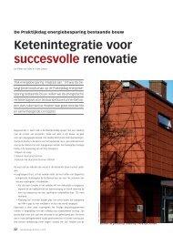 Ketenintegratie voor succesvolle renovatie