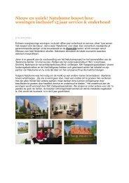 Natuhome bouwt luxe woningen inclusief 15 jaar service ... - SW BV