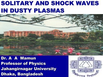 SOLITARY AND SHOCK WAVES IN DUSTY PLASMAS